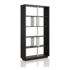 Mallory Modern Bookcase / Display Shelf In Black And White