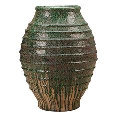 Hive Terracotta Vase, Green