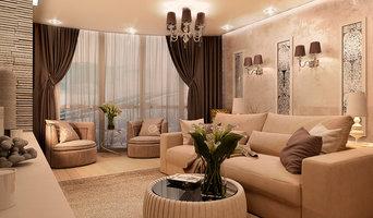 Проект гостиной трехкомнатной квартиры в г. Пятигорске