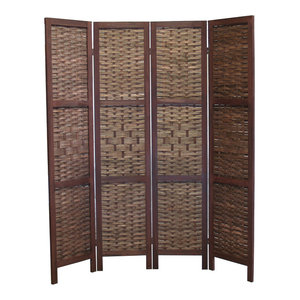 Proman Products Saigon Folding Screen Walnut