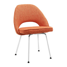 Cordelia Dining Upholstered Fabric Side Chair, Orange