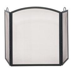 Blue Rhino, Uniflame   3 Fold Black Wrought Iron Arch Top Medium Screen