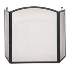 Tri-Fold Medium Fireplace Screen w Arched Middle Panel