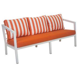 Outdoor 3-Seat Acapulco Sofa, White