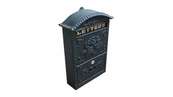 Bronze Vintage Mailbox with Rose Design