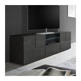 Dama (grey) 2 door 1 drawer TV unit