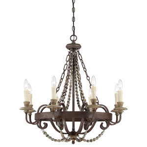 Savoy House Europe Mallory Chandelier With Crystals, 8 Lights