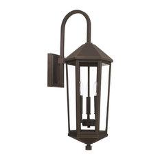 Capital-Lighting Ellsworth 3-Light Outdoor Wall Lantern 926931OZ, Oiled Bronze