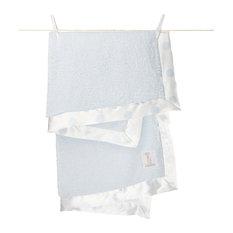 Chenille New Dot Blanket, Blue
