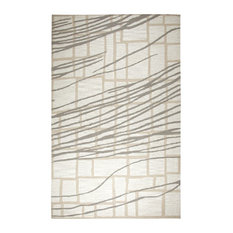 Rizzy Home 8'x10' Ivory Stripe, Modern Area Rug