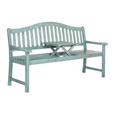 Safavieh Griffin Outdoor Bench, Coastal Blue, Large