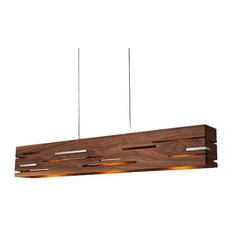 Aeris 54 - LED Linear Pendant, Wood: Oiled Walnut, Black Anodized