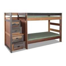 Morgan Creek Multicolor Twin over Twin Bunk Bed with Stairs