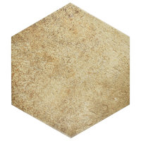 SomerTile Alpina Hex Porcelain Floor and Wall Tile, Natural