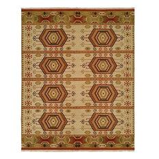 Soumak Flatweave Hand-Knotted Rug, Earth Tones, 12'x15'