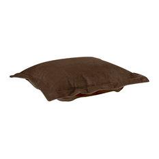 Howard Elliott Puff Ottoman Cushion With Cover, Bella Chocolate