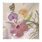 Flor de Jamaica Shelf Paper Drawer Liner, 120x12, Matte Paper