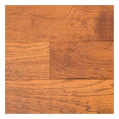 "Ugen Floors 3/8"" Engineered Hardwood Handscraped Hickory Collection, Set of 10"