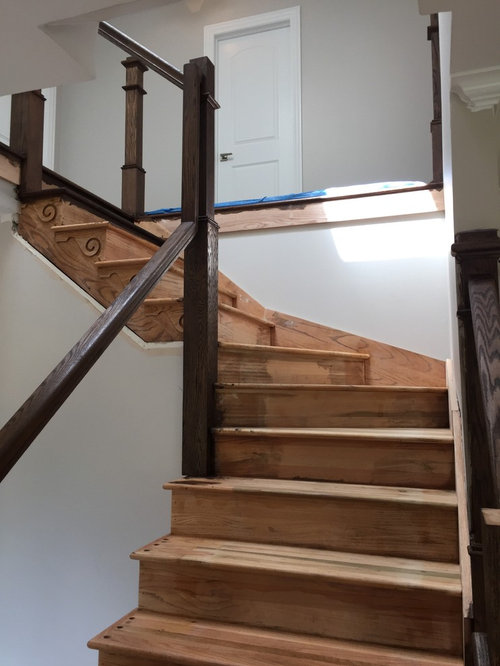 Help Paint Selection For Stair Treads Two Different Wood