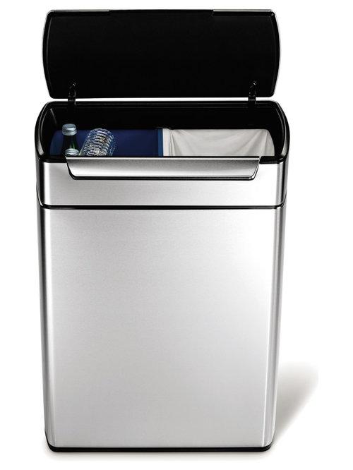 Simplehuman Touch Bar 48L Recycling Bin   Recycling Bins