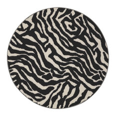Zebra Migrant Beauty Area Rug, Zebra Migrant Beauty, 9' Round