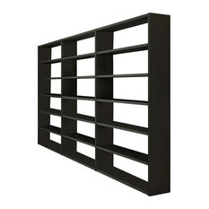 Torero Triple Bookcase, Black-Brown