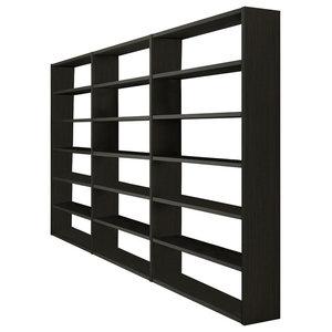 Torero Triple Bookcase, Black-Brown