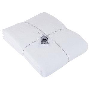Aurélie Linen Duvet Cover, White, Euro King