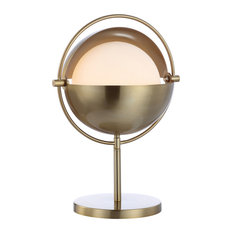 "Casi 17.5"" Iron/Glass Art Deco Globe LED Table Lamp, Brass Gold by JONATHAN  Y"