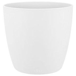 Oak Table Plant Pot Cover, White