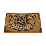 """Humorous Doormat, """"This House Runs on Prosecco"""""""