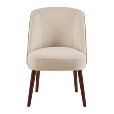 Madison Park Bexley Rounded Back Dining Chair Natural