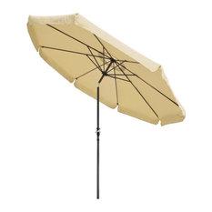 10Ft 8 Rib Outdoor Patio Umbrella Market Valance Crank Handle Push to Tilt