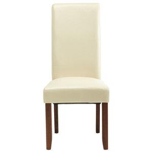 Kingston Chairs With Walnut Legs, Cream, Set of 2