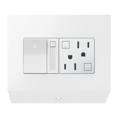 Adorne Control Box with Paddle Dimmer and 15A GFCI, White