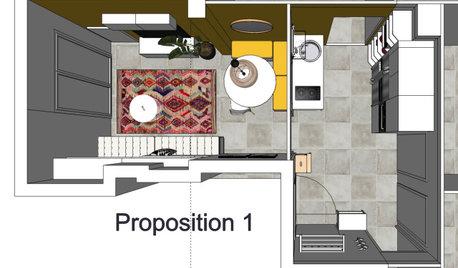 Plans : 3 propositions d'aménagement pour colocation à Grenoble