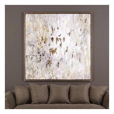 """Uttermost """"Golden Raindrops"""" Modern Abstract Art, 62""""x62"""""""