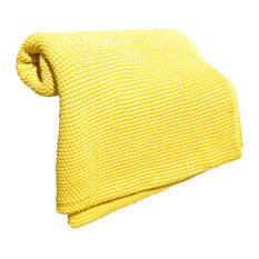 Cotton Throw Blanket, Varna Collection by Pink Lemonade, Yellow