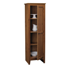 ameriwood ameriwood single door kitchen pantry in old fashion pine pantry cabinets - Kitchen Pantry Cabinets
