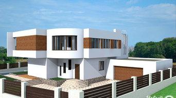 Дом с консольными вылетами