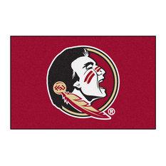 "Florida State Seminoles Red Team Logo Rug, 30""x18"""