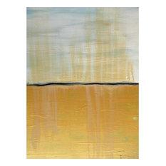 "Darco Arte ""Orizzonte 137"" Painting, 80x120 cm, Yellow"