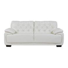 Global Furniture USA   Global Furniture White Tufted Sofa   Sofas