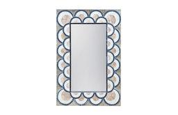 Art Deco Capiz Shell and Glass Mosaic Mirror