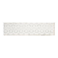 Annie Selke Artisanal White Lace Ceramic Wall Tile 3 x 12 in.