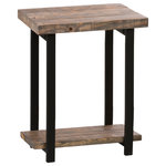 Alaterre - Alaterre Pomona Metal and Reclaimed Wood End Table - Alaterre Pomona Metal and Reclaimed Wood End Table