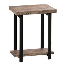 Alaterre Pomona Metal And Reclaimed Wood End Table