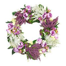 Kalanchoe, Heather, Peony, and Wild Flower Wreath