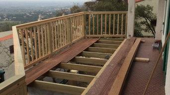 Extension de terrasse porte-à-faux en bois