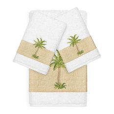 Colton 3-Piece Embellished Towel Set, White